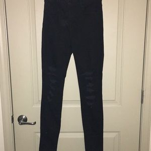 Jbrand Maria high rise, black denim, distressed